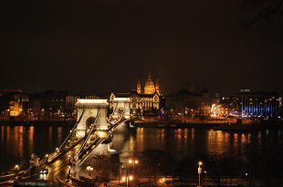 Budapest Winter Holiday Chain Bridge Night Cruise photo by John Beauchamp