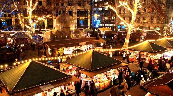 Budapest Christmas Market Vorosmarty Square