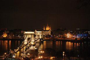 Budapest Winter Holiday Chain Bridge Night Cruise photo by John Beauchamp